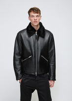 Our Legacy Black Shearling Flight Jacket