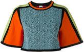 M Missoni cropped colour-block jumper - women - Cotton/Polyamide/Viscose - M