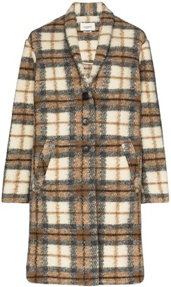 Etoile Isabel Marant Gabriel checked single-breasted coat