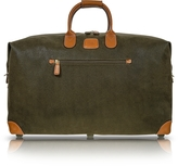 "Bric's Life Olive Green Micro-Suede 22"" Duffle Bag"