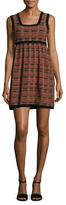 M Missoni Striped Intarsia Flared Dress