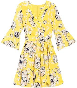 Brinker & Eliza Bell Sleeve Floral Dress
