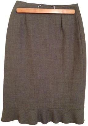 Cyrillus Grey Wool Skirt for Women