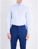 Duchamp Herringbone Tailored-fit Cotton Shirt