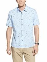 Geoffrey Beene Men's Slim Fit Easy Care Short Sleeve Button Down Shirt