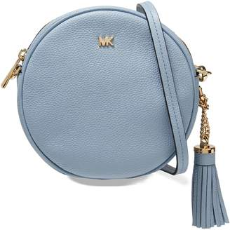 MICHAEL Michael Kors Tassel-trimmed Textured-leather Shoulder Bag