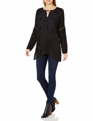 Johnny Was Women's Tonal Embroidered Long Sleeve Tunic