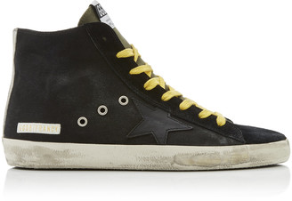 Golden Goose Francy Distressed Suede And Rubber Sneakers