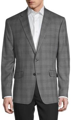 Calvin Klein Standard-Fit Windowpane Check Sportcoat