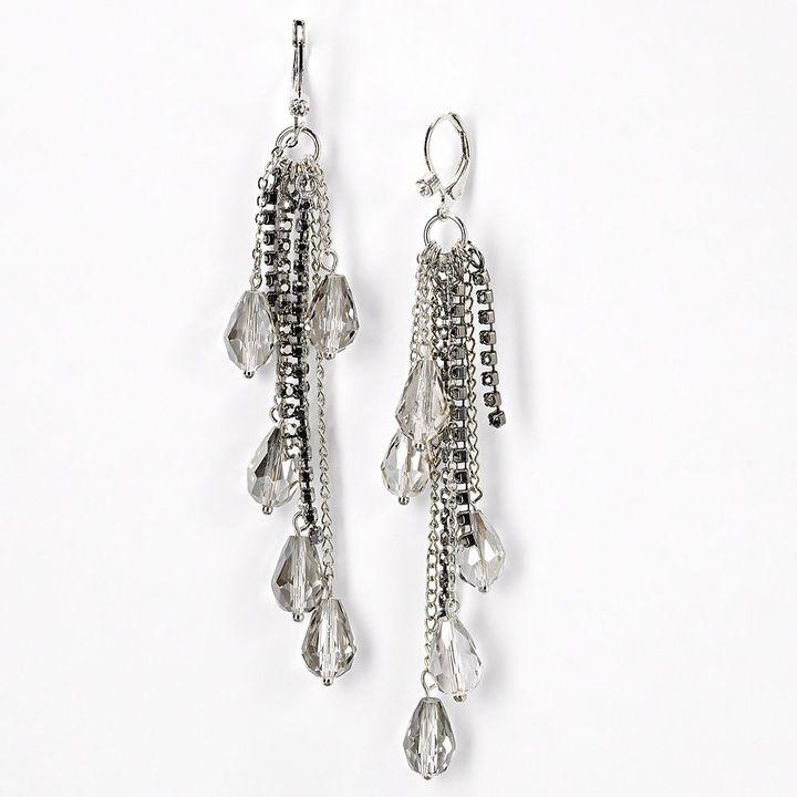 Vera Wang Simply vera two tone linear drop earrings