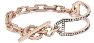Walters Faith Saxon Diamond Side Cuff Chain Link Toggle Bracelet - Rose Gold