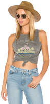 Paige Georgina Vintage Flamingo Tank in Gray. - size L (also in M)