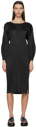 Pleats Please Issey Miyake Black Monthly Colors January Dress