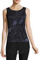 WORTHINGTON Worthington Sleeveless Split Front Tank