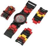 Lego Ninjago Movie 8021117 Kai Kids Minifigure Link Buildable Watch | /black| plastic | 28mm case diameter| analog quartz | boy girl | official