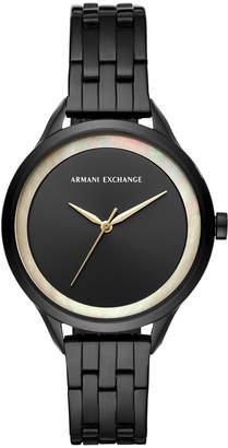 Armani Exchange Women Harper Black Stainless Steel Bracelet Watch 38mm