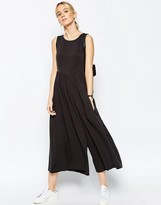 Asos Jumpsuit with Gathered Waist and Wide Leg