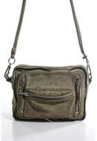 Alexander Wang Camel Brown Suede Zipper Detail Single Strap Crossbody Handbag