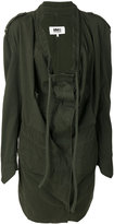 MM6 MAISON MARGIELA draped front military jacket - women - Cotton/Spandex/Elastane - 42
