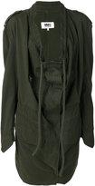 MM6 MAISON MARGIELA draped front military jacket