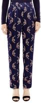 Sandro Noize Printed Silk Pants