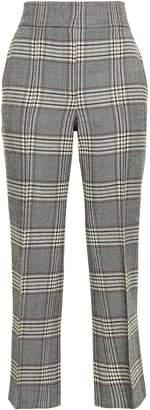 Joseph Cropped Checked Wool Bootcut Pants