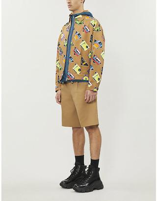 Prada Music Icon graphic-pattern cotton-twill jacket