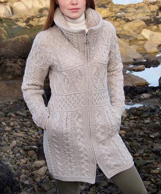 West End Knitwear Women's Overcoats PARSNIP - Parsnip Double-Collar Wool Coat - Women