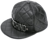 Moschino quilted snap-back logo cap - unisex - Sheep Skin/Shearling/Rayon - S
