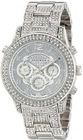 Akribos XXIV Women's AK776SS Crystal Encrusted Swiss Quartz Movement Watch with Silver Dial and Bracelet