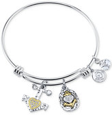 Unwritten Two-Tone Anchor Charm Bangle Bracelet