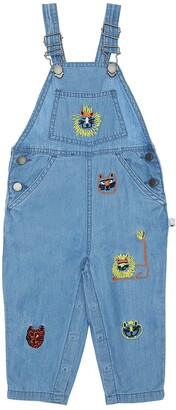 Stella McCartney Kids Embroidered Chambray Overalls