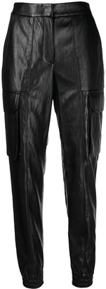 Juun.J Tapered Fit Faux-Leather Trousers