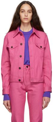 Calvin Klein Jeans Est. 1978 Pink Denim Trucker Jacket