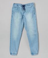 Ecko Unlimited Medium Blue Denim Joggers - Boys