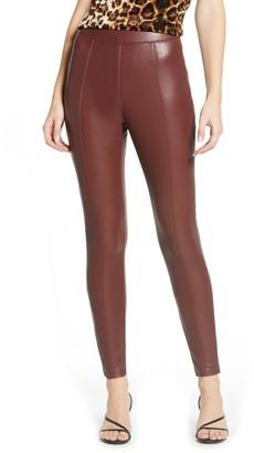 Topshop Piper Faux Leather Skinny Leggings