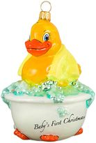 Rubber Ducky Joy the World Collectibles Baby's First Christmas Ornament with Yellow Towel