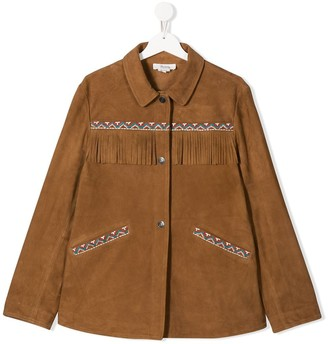 Bonpoint Cheyenne fringed detail jacket