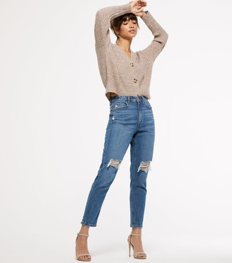 New Look Ripped High Waist Tori Mom Jeans