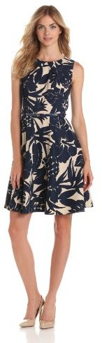 Amy Byer Women's Sleeveless Dress with Inverted Pleat