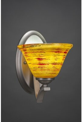 Red Barrel Studio Couto 1 Light Dimmable Dark Granite Armed Sconce Shade Color White Shopstyle