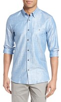 Ted Baker Men's Laavno Extra Slim Fit Linen Blend Sport Shirt