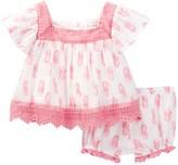 Jessica Simpson Cotton Pineapple Dress & Bloomer Set (Baby Girls)