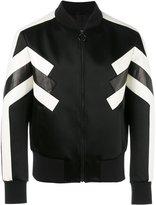 Neil Barrett geometric bomber jacket