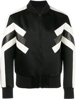 Neil Barrett panelled bomber jacket - men - Leather/Polyester/Acetate/Polyimide - M