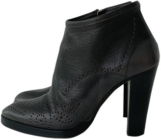 A.F.Vandevorst \N Anthracite Leather Ankle boots