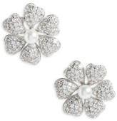 Nina Women's Flower Crystal & Imitation Pearl Stud Earrings