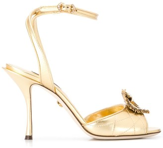 Dolce & Gabbana Devotion embellished open-toe sandals