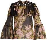 Giambattista Valli Floral-print silk blouse