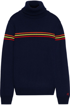 Perfect Moment Orelle Striped Merino Wool Turtleneck Sweater